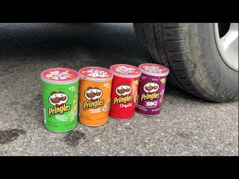 EXPERIMENT CAR VS MINI PRINGLES