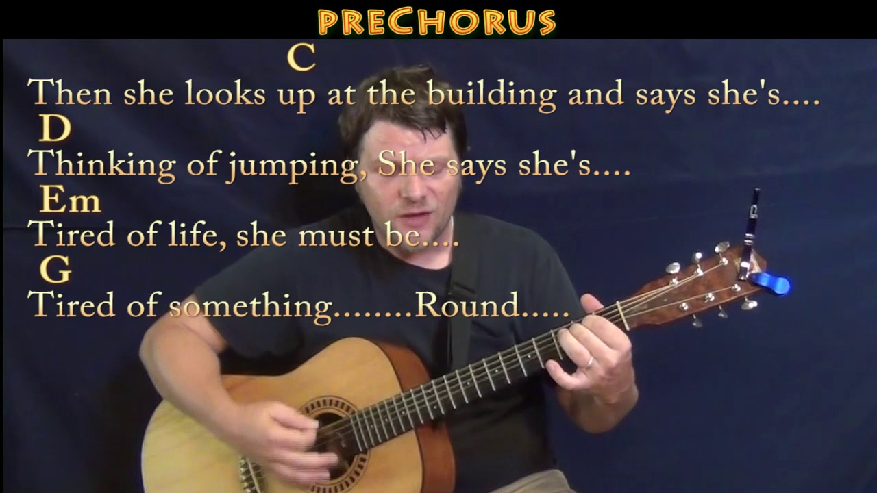 Round Here Counting Crows Guitar Cover Lesson with Chords/Lyrics   Munson