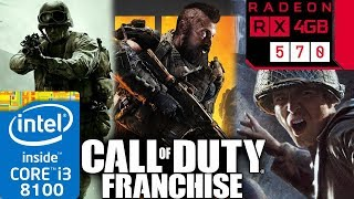 Call Of Duty Franchise (2003 to 2018) - RX 570 - 1 - 2 - Black Ops - Modern Warfare - Series