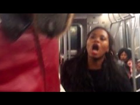 Woman Hits Man, Man Hits Woman Back on NYC Subway [VIDEO]