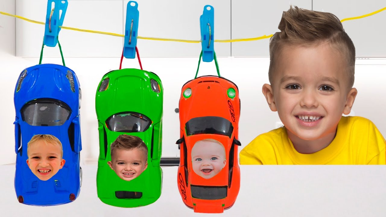 Download Vlad and Niki paint Toy Cars and have fun in the Car museum