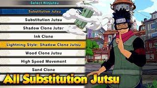 Naruto to Boruto Shinobi Striker - All Substitution Jutsu/Clone Jutsu