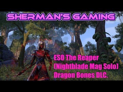 ESO The Reaper (Nightblade Mag Solo) Dragon Bones DLC.