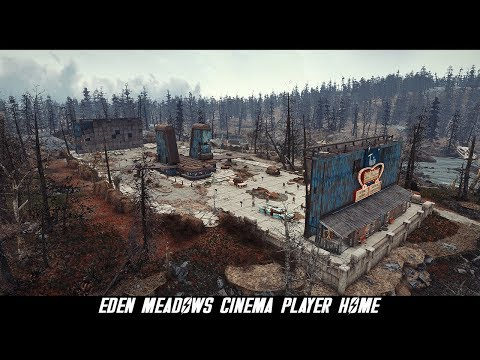 Fallout 4 Mods: Eden Meadows Cinema Player Home
