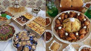 عراضة عائلية بمناسبة حسانة الأربعين  للمولود 👍 حفلة بسيطة للمولود الجديد😊تقاليد و عادات مغربية