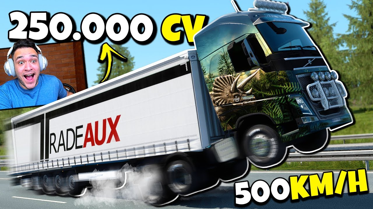 Euro Truck 2 mas o caminhão tem 250.000 cv...