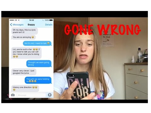 PRANKING My Bestfriends With One Direction 'History' Lyrics (Gone Wrong)