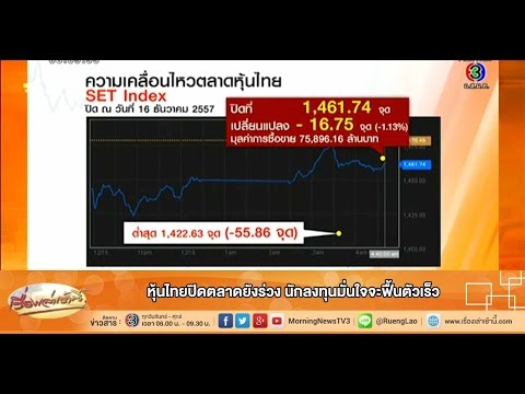 เรื่องเล่าเช้านี้ หุ้นไทยปิดตลาดยังร่วง นักลงทุนมั่นใจจะฟื้นตัวเร็ว (17 ธ.ค.57)
