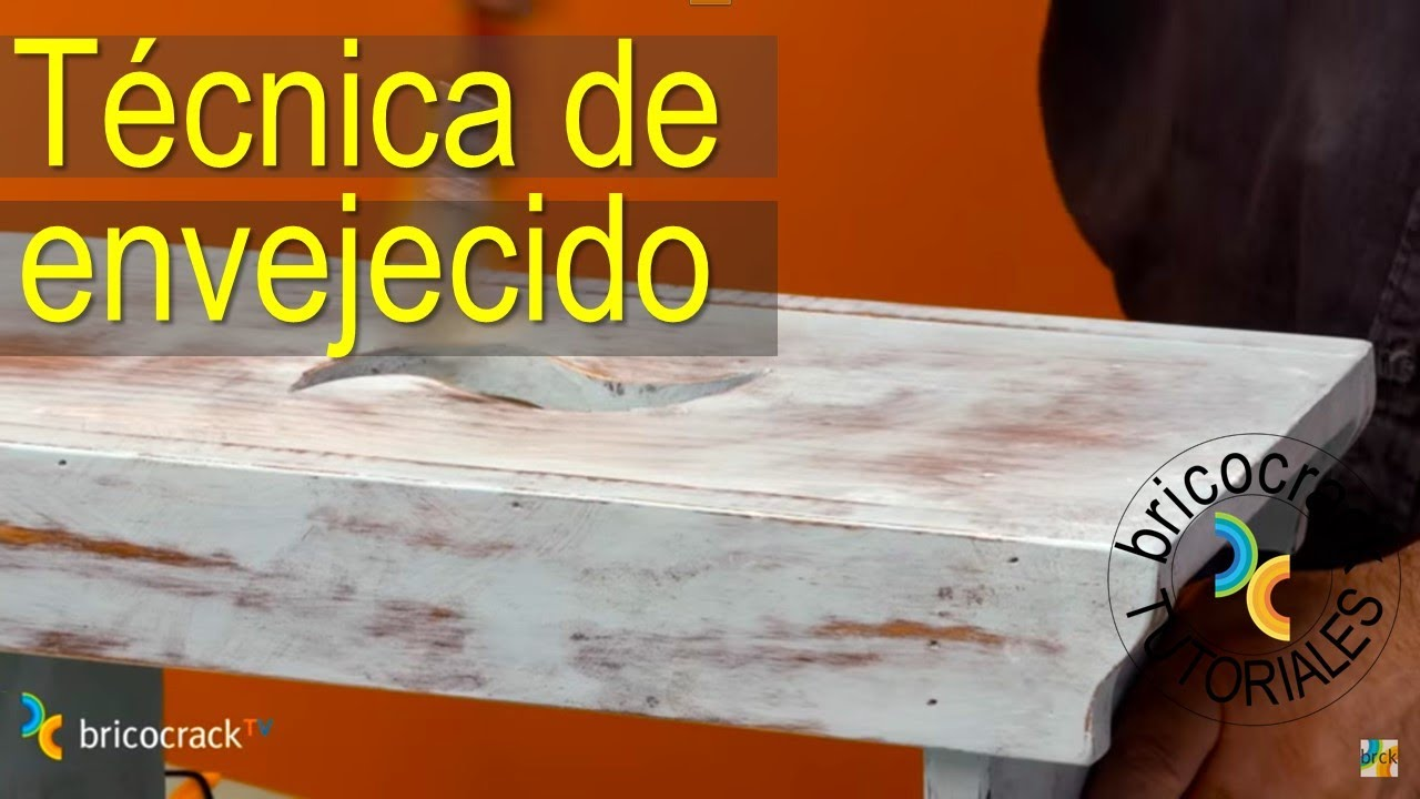 Pintar con chalk paint 1 - Efecto envejecido (Bricocrack) - YouTube