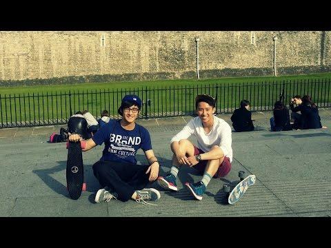 London Penny Skateboard Cruising
