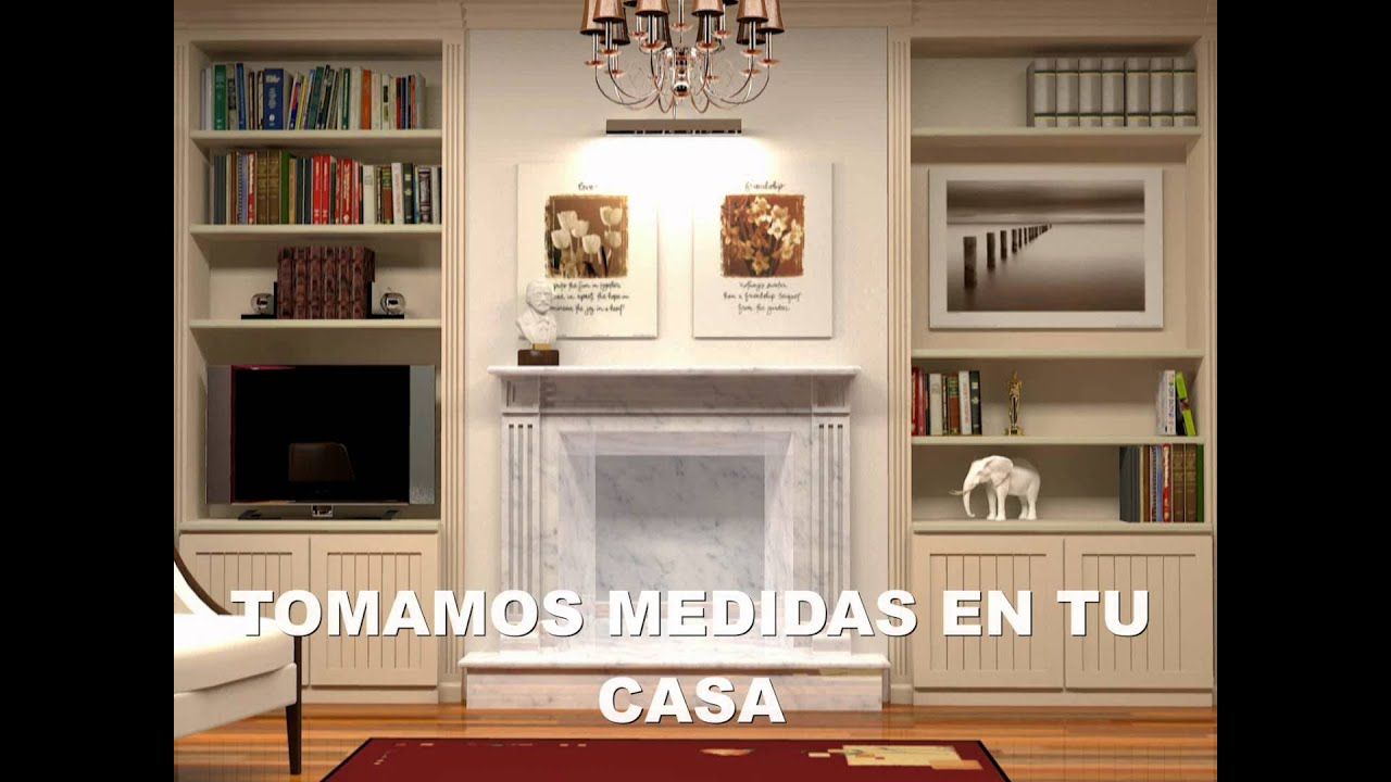 Mueble sal n boisserie youtube for Como modernizar un salon clasico