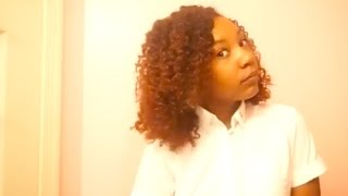 chunky braid out on natural hair
