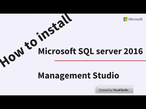 How To Install SQL Server 2016 Express And SQL Server Management Studio 2016 Express