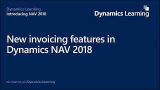 Dynamics NAV 2018 - New invoicing features