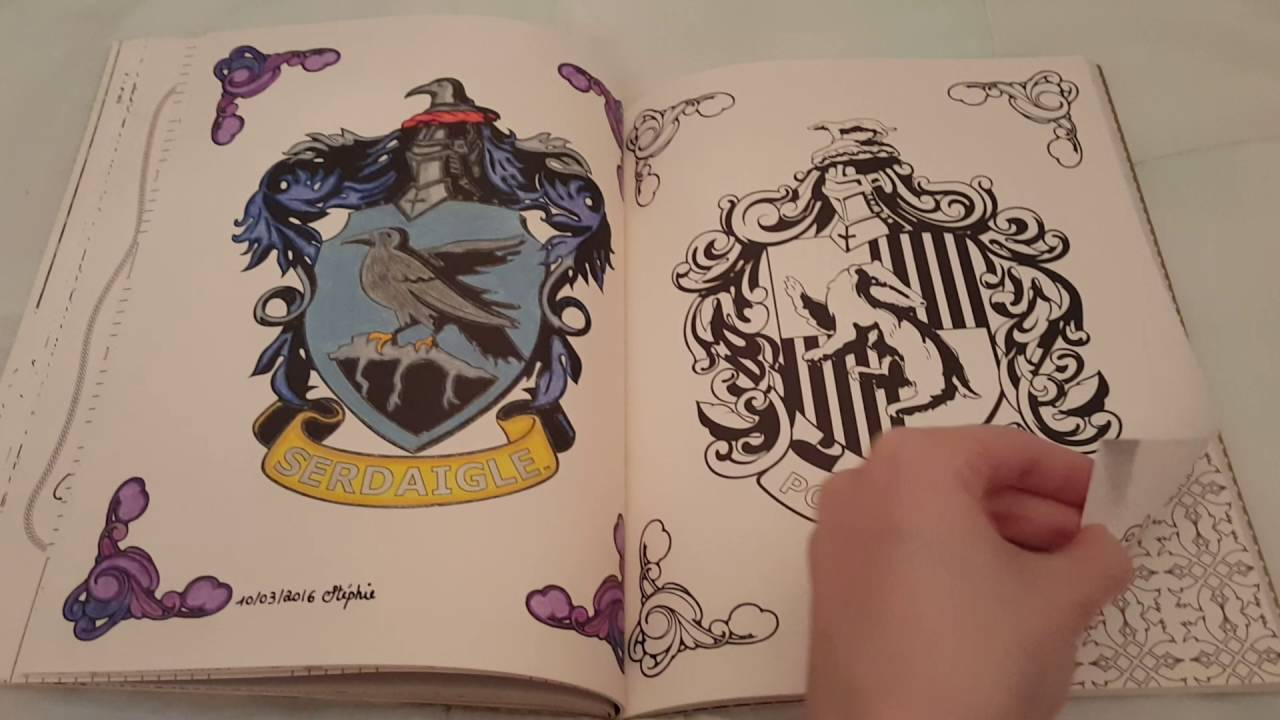 Harry potter le livre de coloriage tome 1 youtube - Harry potter dessin ...