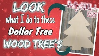 LOOK what I do with these DOLLAR TREE WOOD TREES| Really COOL & EASY