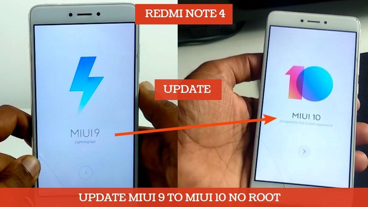 REDMI NOTE 4 UPGRADE MIUI 9 TO MIUI 10 OFFCIAL METHOED | NO ROOT |