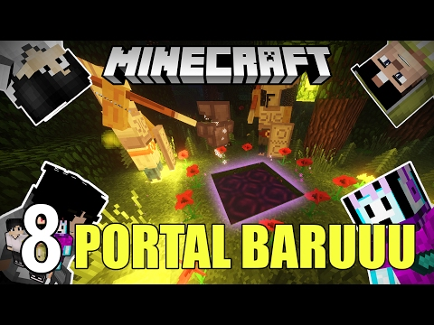 MENUJU  PORTAL SUPER KEREN! ft. 4Brothers | Minecraft Adventure Indonesia #8