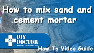Mixing sand and cement mortar using a plasticiser admix