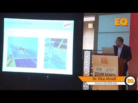 Vikas Almadi, Director & CEO, DEHN India at EQ Solar Assets Conference, Delhi