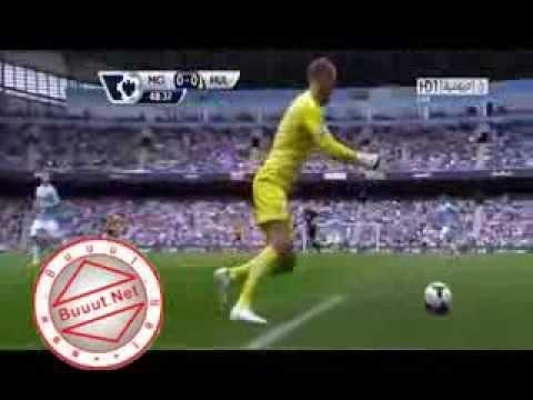 Crazy Joe Hart Amazing Skill vs Hull City // Manchester City-Hull City 2-0 2013 [HD]