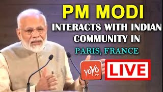 LIVE: PM Modi Interacts with Indian community in Paris, France