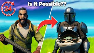 Is It Possible to Unlock Baby Yoda in 24 Hours Without Buying Any Tiers?? - Fortnite Experiments