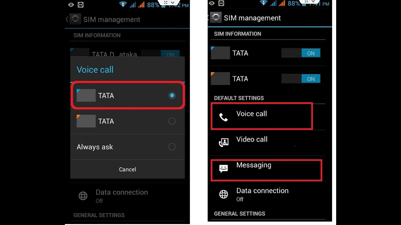 How to Set Default SIM for Call & SMS in Android Phone