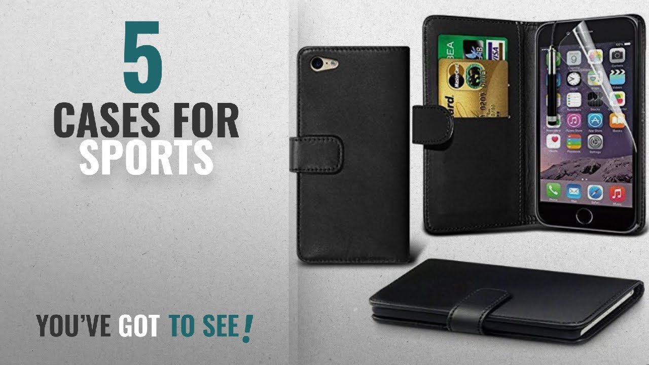 Top 10 Cases For Sports [2018]: iPhone 6/6s Case, DN-Alive Wallet - Book Case, Flip Case Flexible