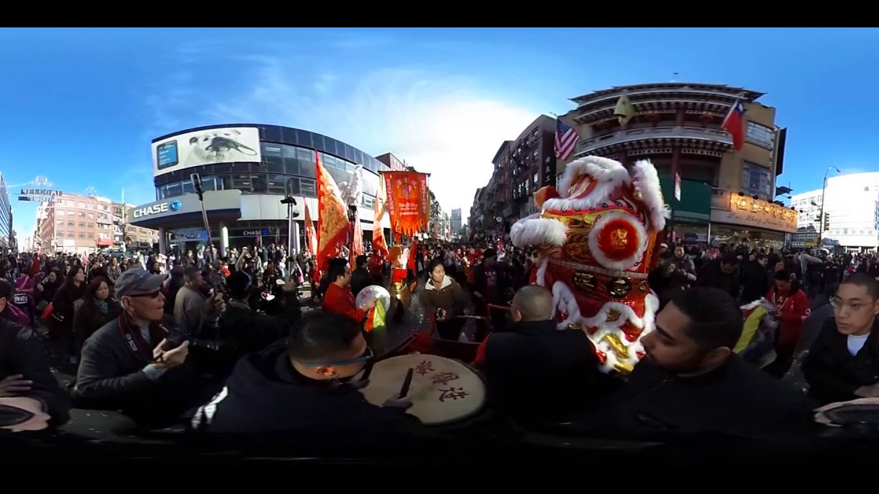 Chinatown Lunar new year parade in 360 VR.
