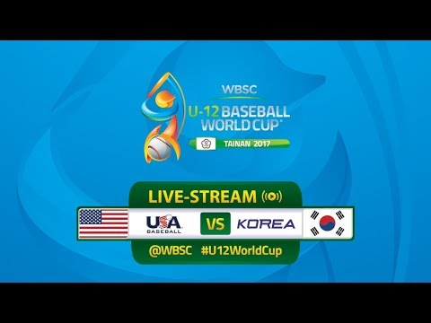 USA v Korea - WBSC U-12 Baseball World Cup 2017