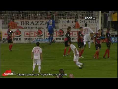 [2009/2010] 2009/10/24 10R AS Monaco 3-1 Boulogne Nene freekick goal 2