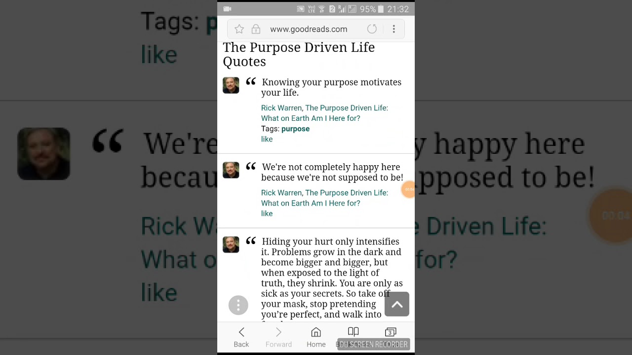 purpose driven life quotes pdf