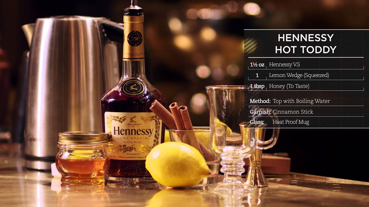 Hennessy recipe hot toddy youtube for Hot toddy drink recipe