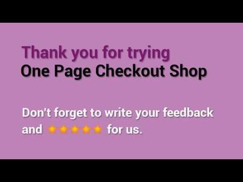 WooCommerce One Page Checkout Shop