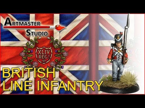 Artmaster Studio: How to paint British Line Infantry