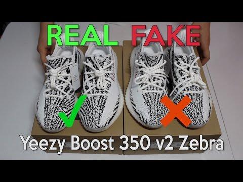 90a18b770 Смотреть видео YEEZY BOOST 350 V2 ZEBRA Real Vs. Fake (LEGIT CHECK) онлайн