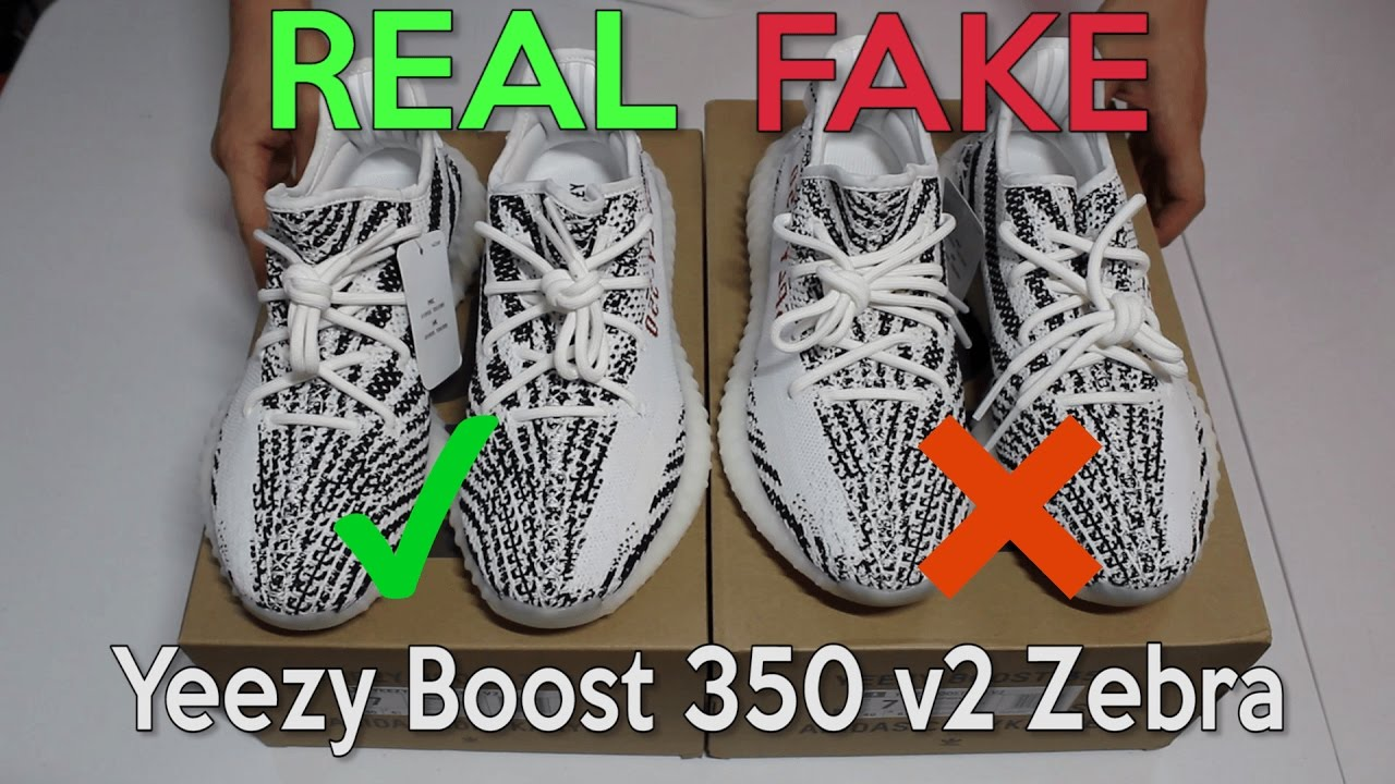 a5d0d1bf66e YEEZY BOOST 350 V2 ZEBRA Real Vs. Fake (LEGIT CHECK) - YouTube