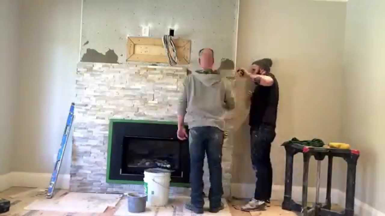 rosa brothers tiling time lapse installation of ledge stone on a