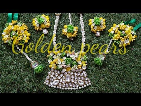 D.i.y how to make handmade flower jewelry for haldi/mehndi 2019