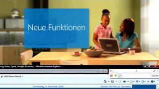 Microsoft Internet Explorer 8 Neue Features Erklärung mit Sprache
