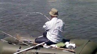 Два подхода к ловле сазана, с лодки и берега