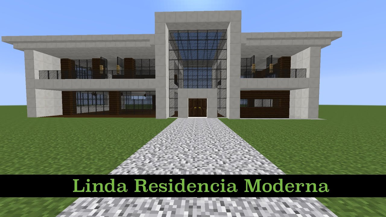 Como hacer una linda residencia moderna pt1 youtube for Casas modernas minecraft 0 10 0