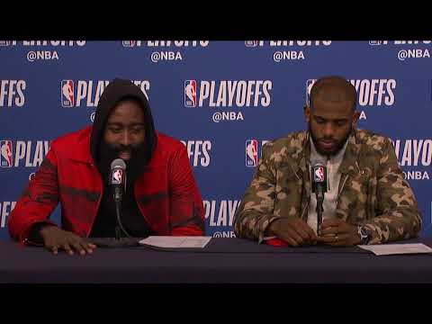 James Harden & Chris Paul Postgame Interview | Rockets vs Timberwolves - Game 4 | 2018 NBA Playoffs