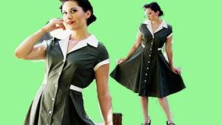 Heartbreaker Fashion Diner Dress Review - Aubrey London - 1950's Pin Up Hair Makeup Thumbnail