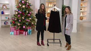 Linea by Louis Dell'Olio Crushed Velvet Pull-On Tier Skirt on QVC