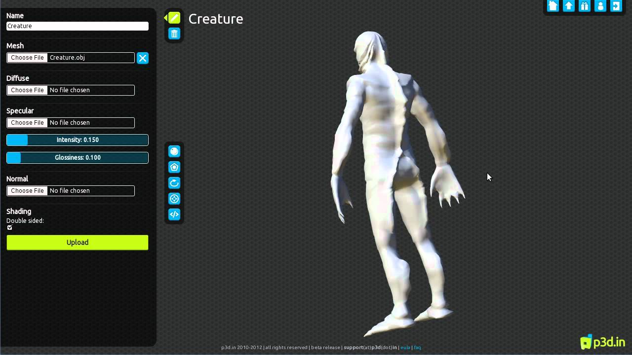 p3d in: view and share fully textured models online   CG Channel