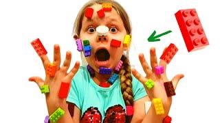 Дети и папа - веселая история / pretend play LEGO HANDS