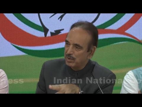 LIVE: AICC Press Briefing By Ghulam Nabi Azad at Congress HQ