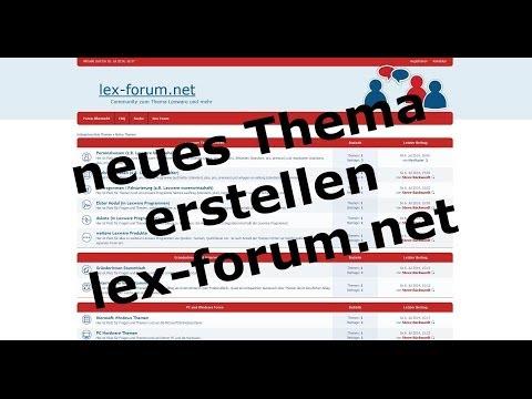 neuen Beitrag erstellen - lex-forum.net Community (phpBB) | LexBlogTV